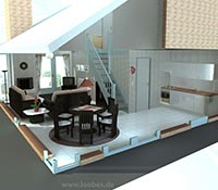 3D Illustration vom Ferienhaus Strandperle