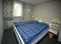 Schlafzimmer vom Ferienhaus Strandperle